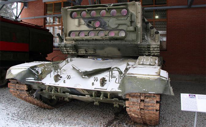 Лазерный комплекс 1К17 в Военно-техническом музее в подмосковном селе Ивановское (Фото: ru.wikipedia.org)