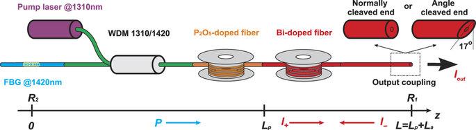 Рисунок 1: Схема Bi-легированного волоконного лазера