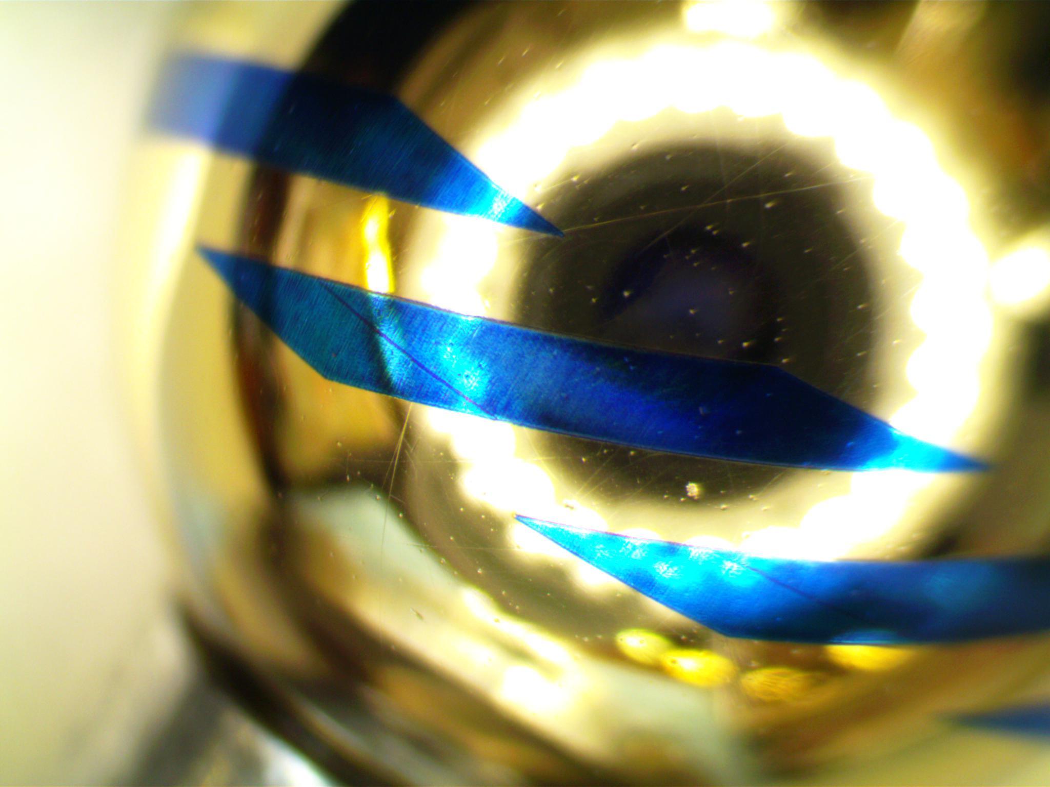 Рис. 2. Растровые полосы на поверхности ротора