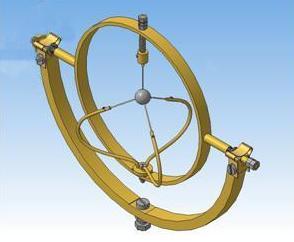 Рис. 1. Оснастка для напыления покрытия на сферические роторы