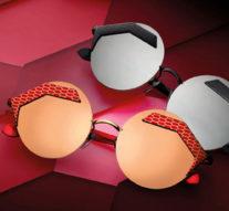 Bulgari показал украшенные при помощи лазера «змеиные» очки