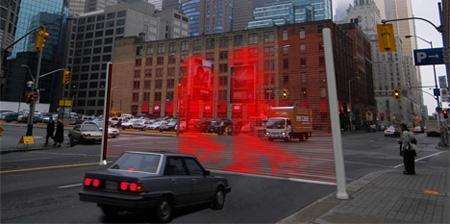 Лазерный пешеходный переход