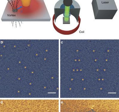 Физики сложили вихри Абрикосова в буквы с помощью лазерного пинцета