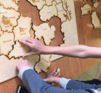 Школьники собрали карту Ивановской области вырезанную лазером + видео