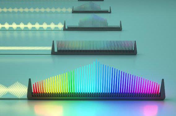 Создан одночиповый «электронный гребешок», способный одновременно излучать несколько частот