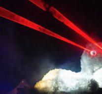 В Копенгагене соорудили гигантского персидского кота с глазами-лазерами