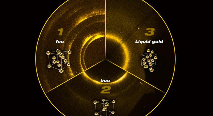 С помощью лазера создана совершенно новая форма золота