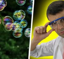 Лазер управляет мыльным пузырем