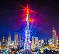 Самый известный небоскреб мира подготовил новые лазерные и световые шоу.