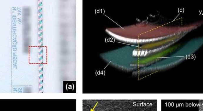 Оптическая томография поможет выявить поддельный паспорт