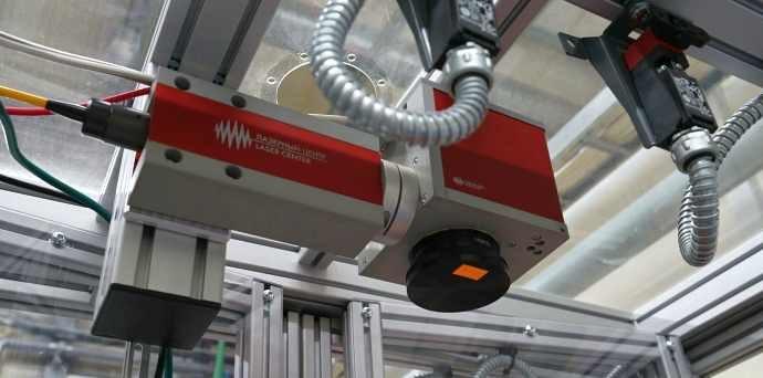 Роботизированные мобильный комплекс для лазерной маркировки плат